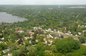 Luchtfoto landschap uit minneapolis — Stockfoto