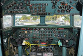 Old airplane cockpit — Stock Photo