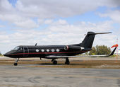 Black jet airplane — Stock Photo