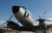 старый самолет пропеллера — Стоковое фото