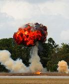 Outdoor explosion — Stock Photo