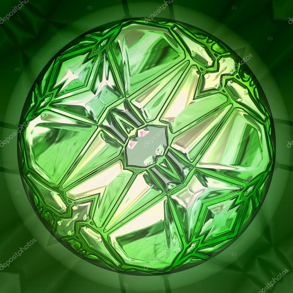 Emerald colored gem closeup view — Stock Photo #11654380