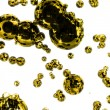 Golden paint drops - Foto de Stock