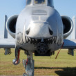 Jetfighter front view - Stock Photo