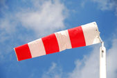 Windsock pointing direction — Stock Photo