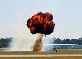 地上爆発 — ストック写真