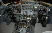 Airplane cockpit — 图库照片