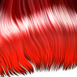 Wild red hair — Stock Photo