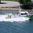 Stock Photo: Fire department boat