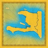 Old map of Haiti — Stock Photo