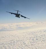 Cargo jet in flight — Stock Photo