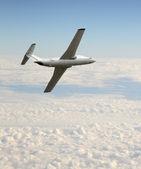 White jet airplane — Stock Photo