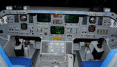 Space shuttle cockpit — Stock Photo