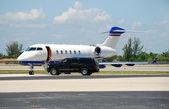 Luxury corporate jet — Stock Photo