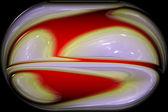 Polished artistic glass orb — Stock Photo