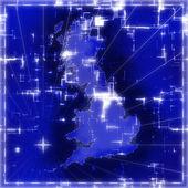 Mavi harita — Stok fotoğraf