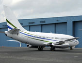 Passenger jet airplane — Stock Photo