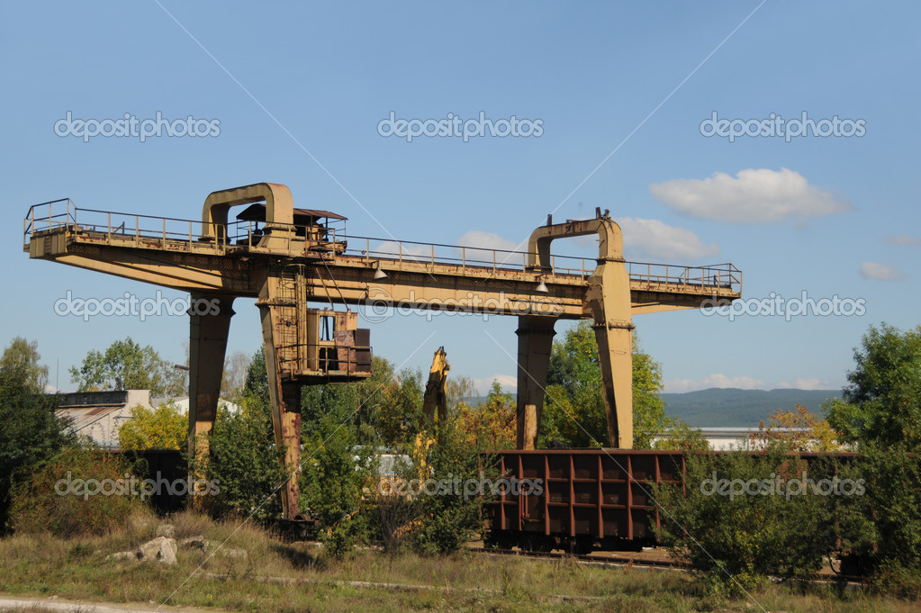 Old rusty railroad cars in rural Bulgaria — Stock Photo #11784187