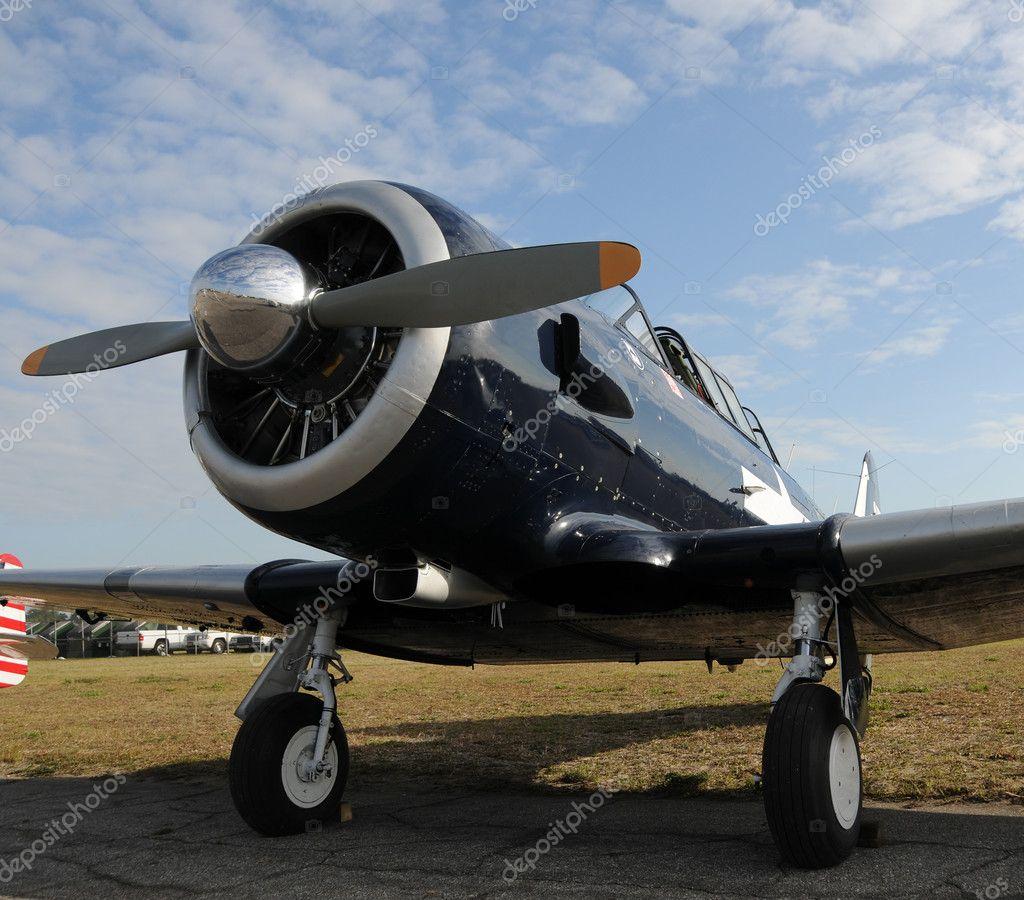 Old propeller airplane — Stock Photo © icholakov01 #11786587
