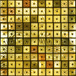 Stock Photo: Gold tiles
