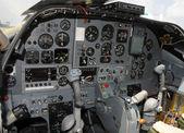 Jetfighter cockpit — Stock Photo