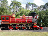 Old red engine — Stock Photo