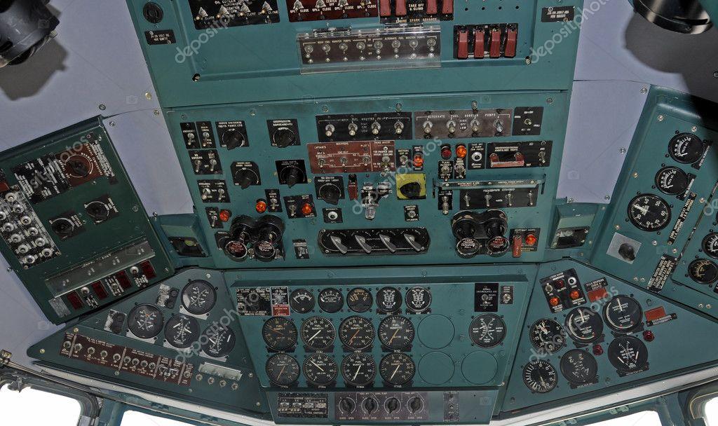 飞机驾驶舱 - 图库图片