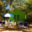 Stock Photo: Colorful beach bungalow