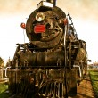 Classic locomotive engine — Stock Photo