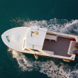 Motorboat from above — Stock Photo