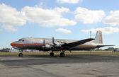 Stary samolot turbośmigłowy — Zdjęcie stockowe