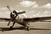 Vintage Fighter Plane — Stock Photo