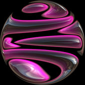 Purple Glass Ball — Stock Photo