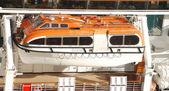 Cruise ship lifeboats — Stock Photo