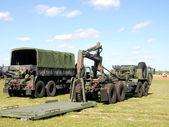 Military trucks — Stock Photo