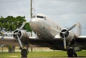 Vista frontal del avión vintage — Foto de Stock