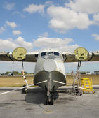 Old flying boat — Stock Photo