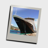 Snapshot of cruise ship — 图库照片