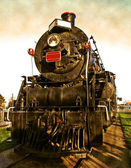 Classic locomotive engine — Stock Photo