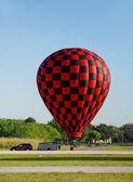 Přistání balónu horký vzduch — ストック写真