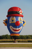 Clown face balloon — Stock Photo
