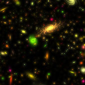 カラフルな銀河 — ストック写真