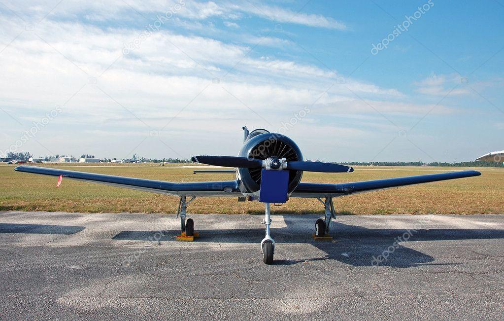 螺旋桨飞机前视图 — 照片作者