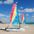 Stock Photo: Sailboat on beach