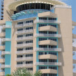 Modern hotel building with revolving restaurant - Stock Photo