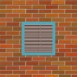 Brick wall with square vent — Stock Photo #11902474
