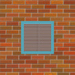 Brick wall with square vent — Stock Photo