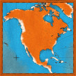 Photo: Map of North America