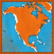 Map of North America — ストック写真