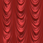Red stage curtain — Stock Photo